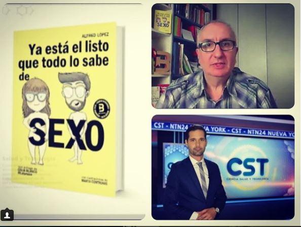 """Entrevista a Alfred López para la televisión de Estados Unidos y Latinoamérica hablando del libro """"Ya está el listo que todo lo sabe de SEXO"""""""