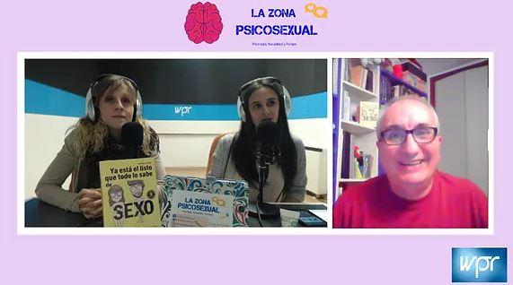 """Entrevista a Alfred López hablando del libro """"Ya está el listo que todo lo sabe de SEXO"""" en el programa La Zona PsicoSexual"""