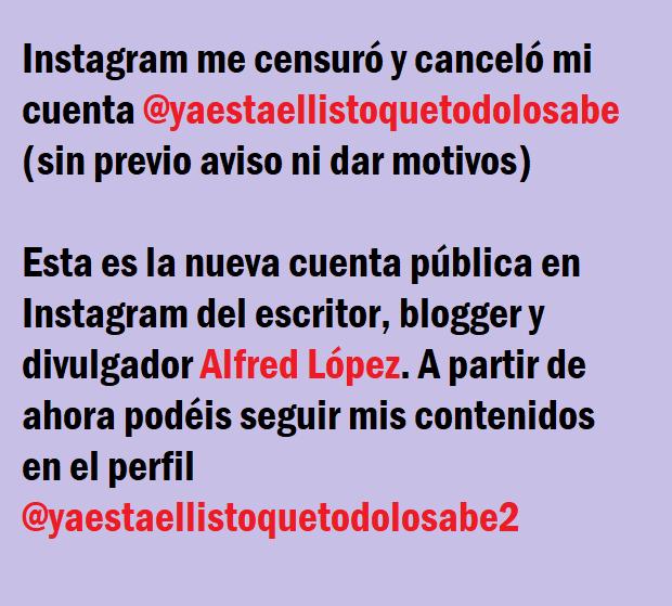 Nueva cuenta en la red social Instagram: @yaestaellistoquetodolosabe2